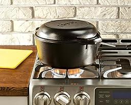 Lodge L8DD3 Cast Iron Double Dutch Oven, 5-Quart