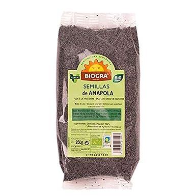Semillas de amapola Biogrà, 250 g: Amazon.es: Alimentación y ...