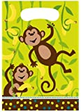 Creative Converting Monkeyin' Around Birthday Party Favor Bags, 8 Count