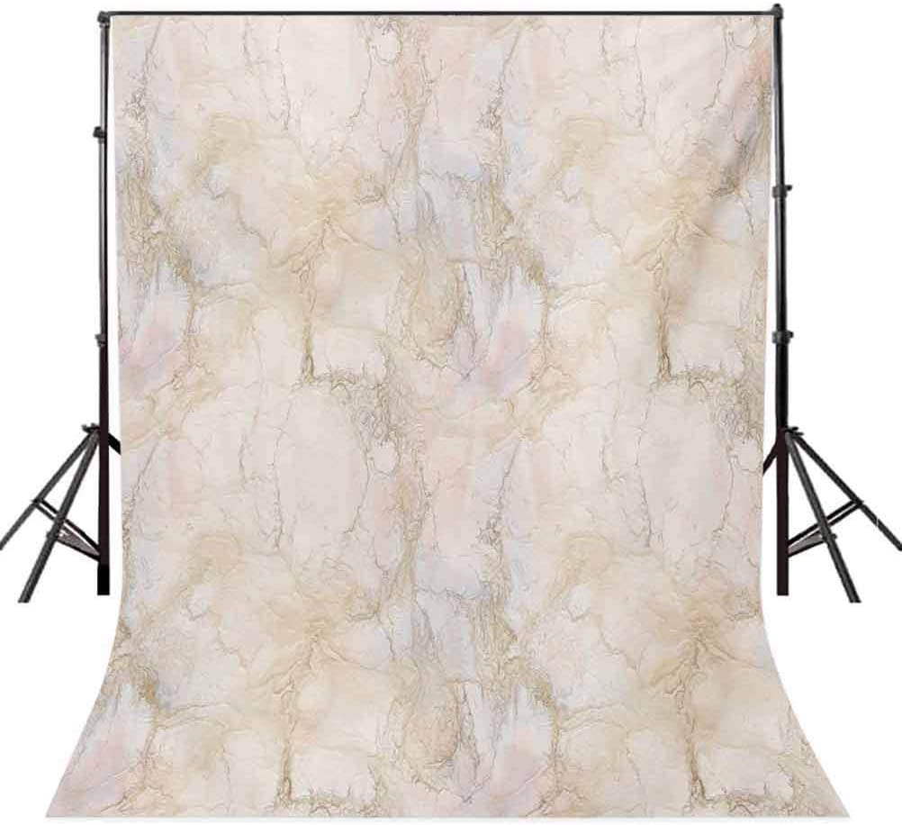 6.5x10 FT Backdrop Photographers,Pink Peach Marble Background with Crack Patterns Architecture Building Material Background for Photography Kids Adult Photo Booth Video Shoot Vinyl Studio Props