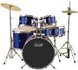 Union DBJ5052(DB) 5-Piece Junior Drum Set with Hardware, Cymbal and Throne - Dark Blue