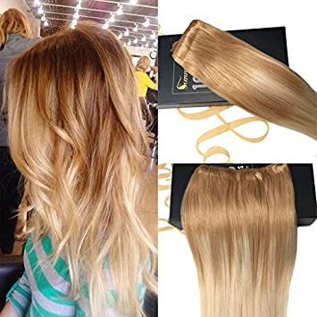Amazon Com Sunny Balayage Remy Ombre Easy Weft Hair Extensions 22