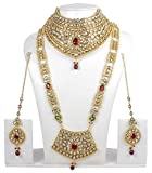 Ethnic Traditional Long Necklace Ethnic Indian Bridal Jewelry Bollywood Earrings Gold Plated Set