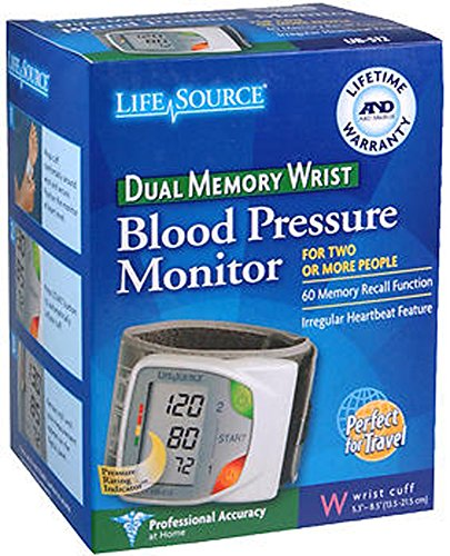 LifeSource UB-512 Advanced Memory Wrist Auto Inflate Blood P
