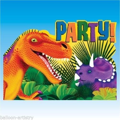 Amscan Prehistoric Party Postcard Invitations - 8 ct