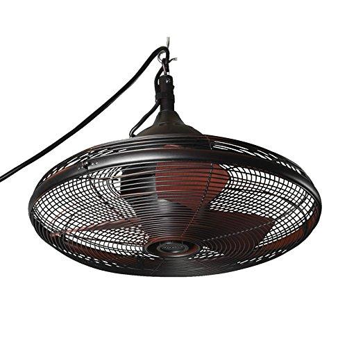 Allen + Roth 20-in Valdosta Dark Oil Rubbed Bronze Outdoor Ceiling Fan