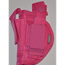 Ladies Here's One Just for You. This Pink Holster Is a Belt and Clip on Holster, Is for Right or Left Hand Use. This Pink Gun Holster Fits M&P Shield 9mm