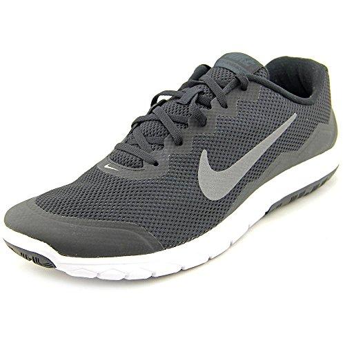 Nike Men's Flex Experience RN 4 Blk/Mtlc Drk Gry/Anthrct/White Running Shoe - 9.5 D(M) US