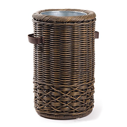 (The Basket Lady Wicker Umbrella Stand One Size, Antique Walnut)
