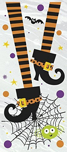 Cellophane Spooky Boots Halloween Party Bags, Pack of 20 by Unique Party -