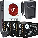 4x DOT-01 Brand Fujifilm X-T20 Batteries and Charger for Fujifilm X-T20 Mirrorless Digital Camera and Fujifilm XT20 Battery and Charger Bundle for Fujifilm NPW126 NP-W126