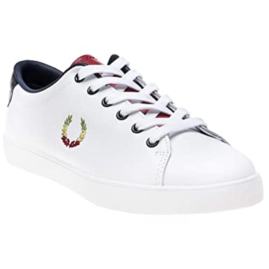 27265a60e73 Amazon.com: Fred Perry Bella Freud Lottie Leather Womens Sneakers White:  Clothing