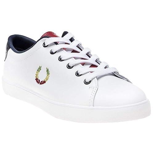 Fred Perry Bella Freud Lottie Leather Mujer Zapatillas Blanco: Amazon.es: Zapatos y complementos