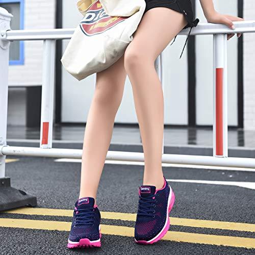 RomenSi Womens Air Athletic Running Sneakers Fashion Breathable Sport Gym Walking Tennis Shoes (US5.5-10 B(M) 6