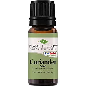 Plant Therapy Coriander Seed Essential Oil 10 mL (1/3 oz) 100% Pure, Undiluted, Therapeutic Grade