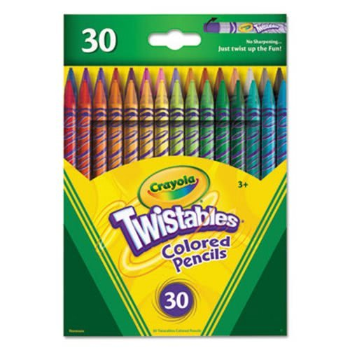 (Crayola Twistables Colored Pencils, 30 Assorted Colors/Pack)