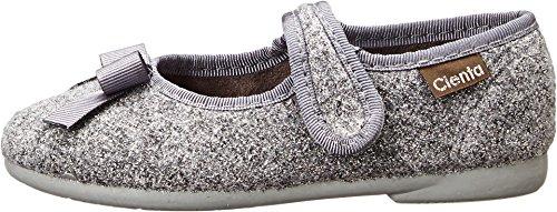 Cienta Kids Shoes Girl's 500-074 (Toddler/Little Kid/Big Kid) Gray Glitter Flat 34 (US 3 Little Kid) M
