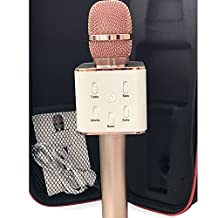 Wireless Microphone / mic Bluetooth Karaoke Machine Home-KTV USB Charging Portable Handheld Built-in Bluetooth Speaker for Iphone Ipad Apple Android or PC & Smartphone