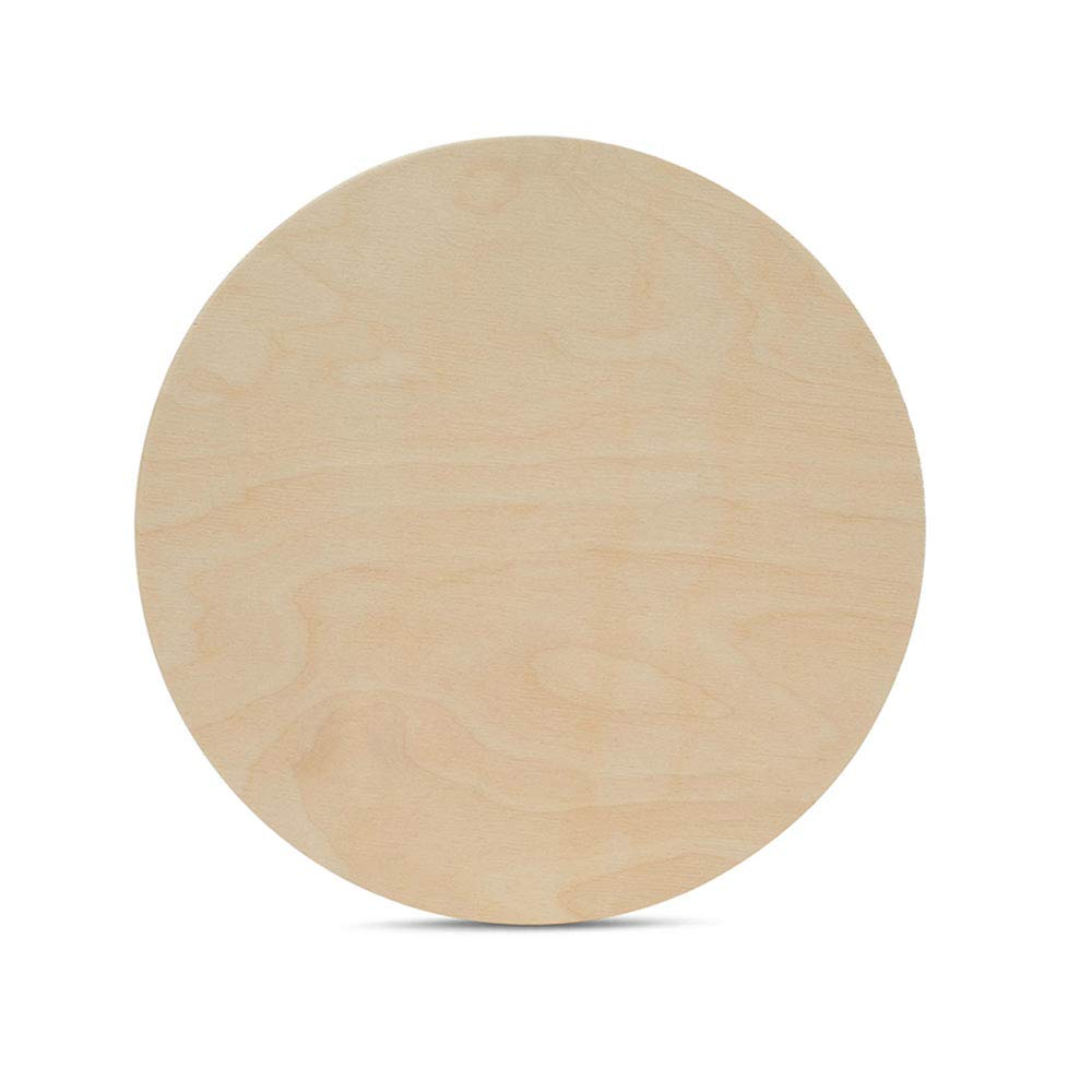 12 Inch Wooden Circle Plaques 1/2 Inch Thick, Package of 1, Unfinished Baltic Birch Wood by Woodpeckers