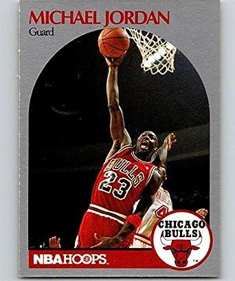 942fc3ac3b8de Amazon.com: 1990-91 Hoops #65 Michael Jordan Bulls NBA Basketball ...
