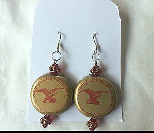 anheuser-busch-gold-red-and-saucer-bead-upcycled-bottlecap-earrings