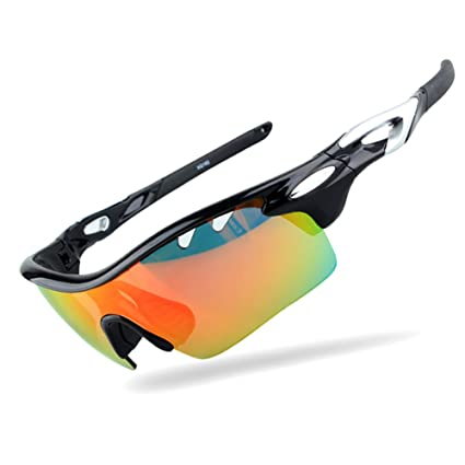 c6d7f05b87f Image Unavailable. Image not available for. Color  Sports Men Sunglasses  Polarized ...