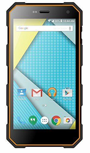 Plum Gator 4 – Rugged Smart Cell Phone Unlocked Android 4G GSM 13 MP Camera 5″ HD Display IP68 Military Grade Water Shock Proof 5000 mAh – Black/Org