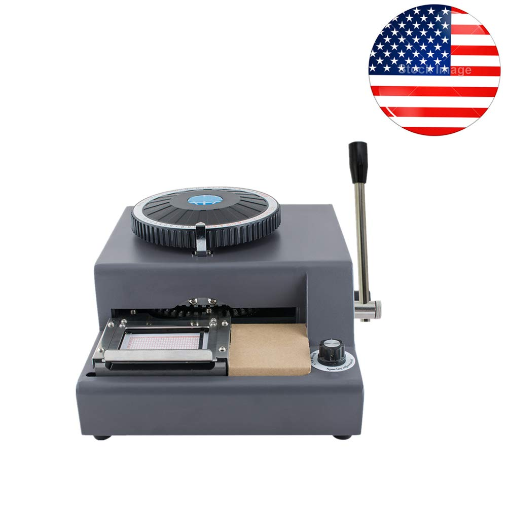 Ovovo Embossing Machine 72 Character Letters Embosser Machine Credit Card ID Plastic PVC Card VIP Gift Card Manual Embosser Stamping Machine