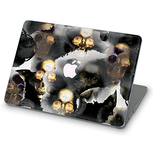 Halloween Macbook Pro 15 2017/18 (A1707,A1990) ZIZZDess Varnished Ornamental Full Hard Cover for Apple Mac Pro 15 with Touch Bar (Skull)