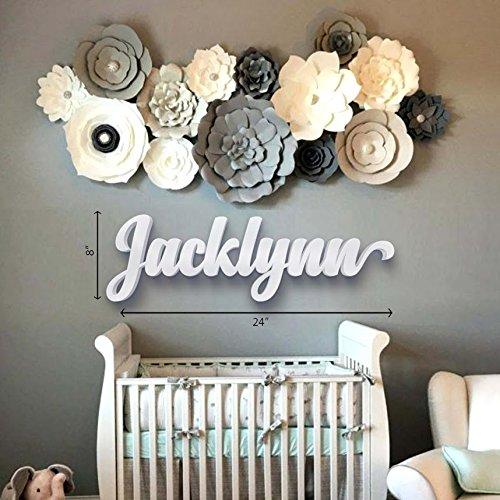 Nursery Letters Baby Nursery Wall Hanging Letters In Script Font
