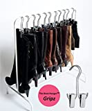 Boot Organizer: The Boot Rack Garment & Boot Rack - Fits in Most Closets (The Boot Rack with 6 Gripz Hangers)