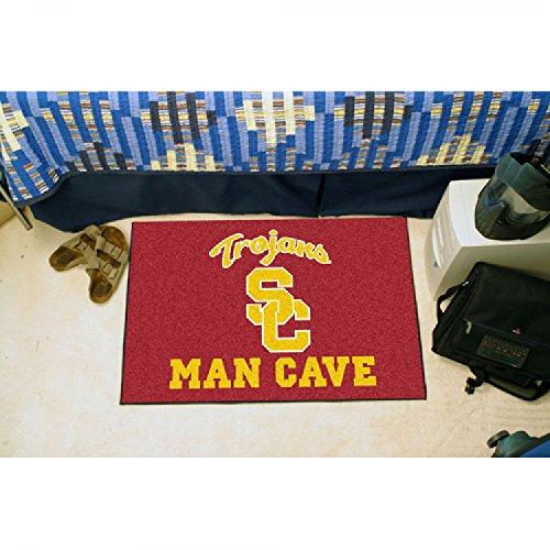 USC TROJANS NCAA MAN CAVE STARTER FLOOR MAT (20IN X 30IN) (Floor Usc Trojans)
