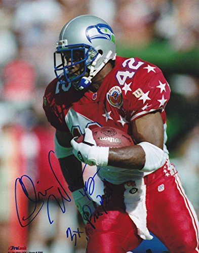 - Chris Warren Autographed Photograph - 3 X PRO BOWL 8x10 - Autographed NFL Photos