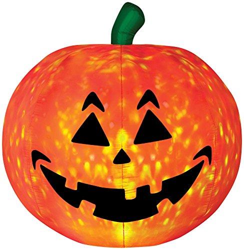 Gemmy 5 Foot Air-blown Pumpkin Inflatable - Halloween Light Show Of Fire And Ice (Air Blown Inflatables)