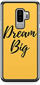 Samsung Galaxy S9 Plus Transparent Edge Phone Case Dream Big Phone Case Motivation Phone Case Typography Instagram Samsung S9 Plus Cover with see through edges