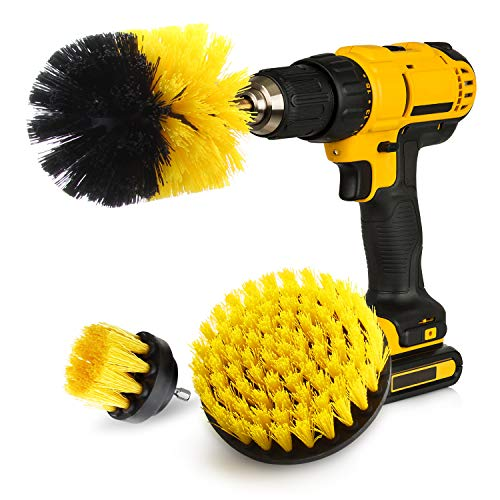 Drill Brush, ZIKEE Brush Drill Attachment, Power Drill Scrubber Brush Set for Cordless Drill for Cleaning Bathroom, Tub, Tile, Grout, Shower, Carpet