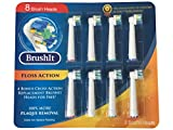 Toothbrush Replacement Heads Refill for Oral-B Electric Toothbrush, 4 Floss Action, 4 cross action, 8 Count