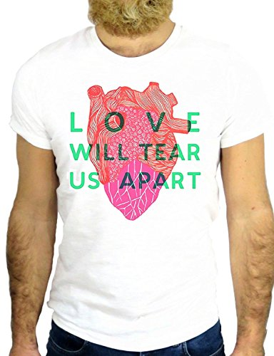 T SHIRT Z0407 LOVE WILL TEAR US A PART COOL FASHION MODE NICE FUN FUNNY USA GGG24 BIANCA - WHITE XL
