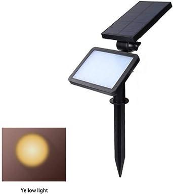 Energía Solar Reflector Led Jardín Lámpara De Césped Luces De Paisaje Camino Al Aire Libre A Prueba De Agua Focos Bombillas Led Luz Amarilla 25.5 * 8.5 * 12.5Cm: Amazon.es: Iluminación