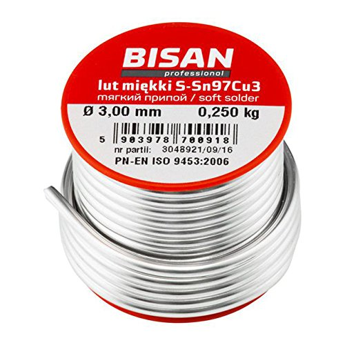 Lead Free Plumbing Plumbers Solder Wire Soft S-Sn97Cu3 2.5mm for Copper Pipe (Solder Copper Plumbing)