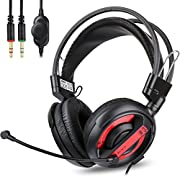 #LightningDeal 89% claimed: Gaming Headset,E-BLUE Xbox one PS4 Microsoft Gaming Headphone,Playstation Headset with Mic and Volume Control Stereo for Boys Girls (No adapter included)