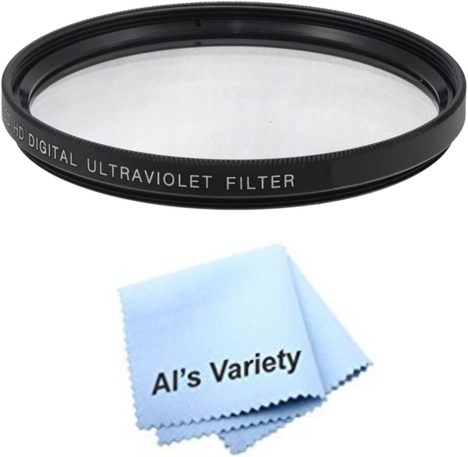 62mm High Resolution Clear Digital UV Filter with Multi-Resistant Coating for Sony Alpha DSLR-A300 Microfiber Cleaning Cloth