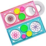 Qiyun Creative Drawing Tool Spirograph Playset Geometric Ruler Student Drafting Stencil Gift Random Color