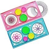Qiyun Creative Drawing Tool Spirograph Playset Geometric Ruler Student Drafting Stencil Gift Random Color