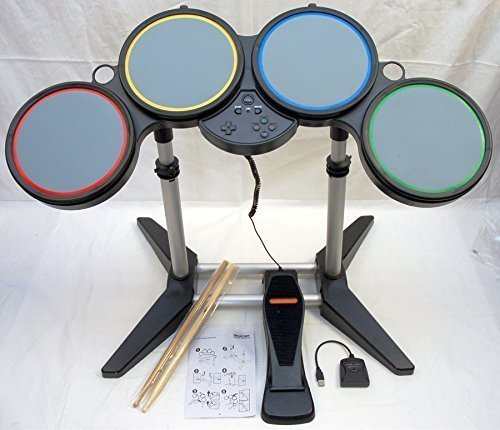 Wireless Drum Set Controller for PS3, PS2 and Wii Guitar Hero and Rock Band