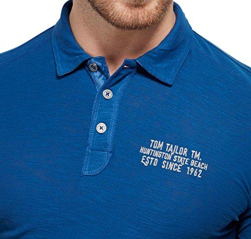 TOM TAILOR Polo Poloshirt Print Details 1531105 0010 6621 Gr.XL