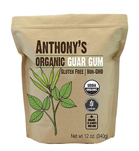 Guar Gum - Anthony's Organic Guar Gum Powder (12 oz.) - Gluten Free & Non-GMO
