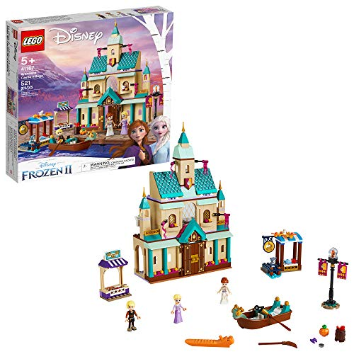 LEGO Disney Frozen II Arendelle Castle Village 41167 Toy Castle Building Set