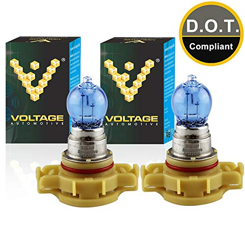 Voltage Automotive PSX24W 2504 Headlight Bulb Polarize White Replacement (Pair) - Professional Upgrade Head Light Bulb