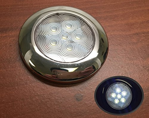 Pactrade Marine Boat Nature White LED Ceiling Light SS304 Housing Surface Mount 12V 95LM